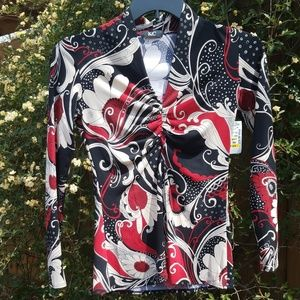 Tops - Floral patterned long sleeve top